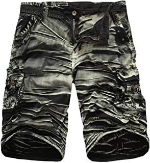UJUNAOR Casual trousers men's zip beach work trousers cargo fitness training jogger outdoor trousers