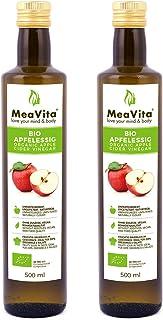 comprar comparacion MeaVita Vinagre de Sidra Orgánico de Manzana, Natural Turbio y sin Filtrar con Nuez de Vinagre, 1000 ml (2 x 500 ml)