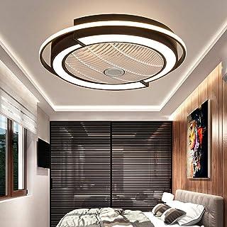 Plafondventilator, led, 45 W, plafondlamp, met verlichting, onzichtbare ventilator, licht, instelbaar, modern, slaapkamer,...