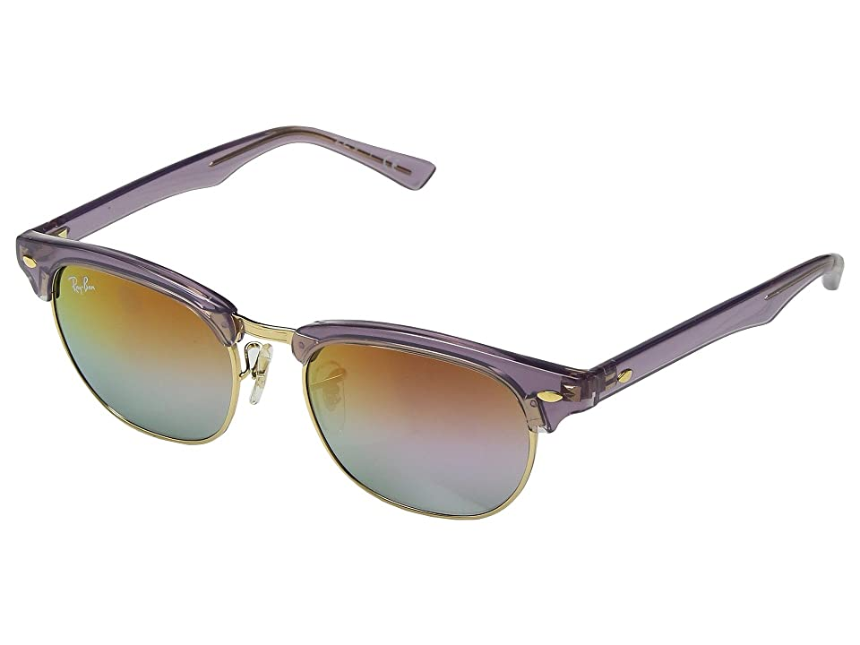 Ray-Ban Junior RJ9050S Clubmaster 47mm (Youth) (Transparent Violet/Lilac Mirror Gradient) Fashion Sunglasses