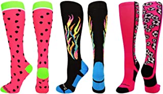 MadSportsStuff Neon Watermelon Athletic Over The Calf Socks