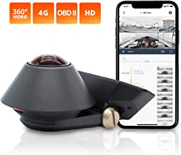 """Waylens – Secure360 4G Dash Cam with """"Easy Install"""" OBD ll Power Cord – 360° Coverage – Advanced HDR Video – Smart Power & Thermal Management – Supports Class 10 MicroSD Cards Up To 256GB"""