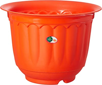 "GARDENS NEED 100% Virgin Plastic Jasmine 8"" Pot with Drip Tray 
