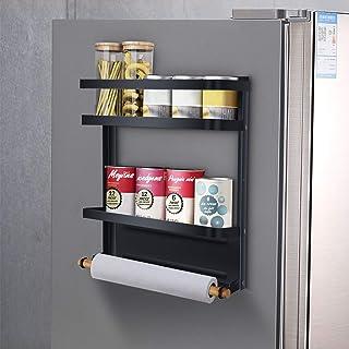 mreechan Etagere magnetique,Etagère Réfrigérateur Supports pour Papier Essuie-Tout Distributeur Pimenter Magnétique avec P...