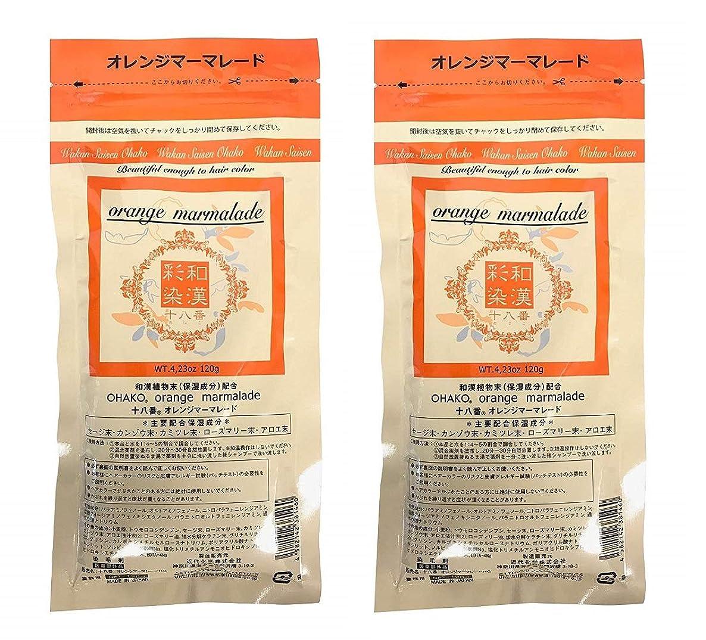 お手入れ試用ミサイル【2個セット】グランデックス 和漢彩染 十八番 120g オレンジママーレード