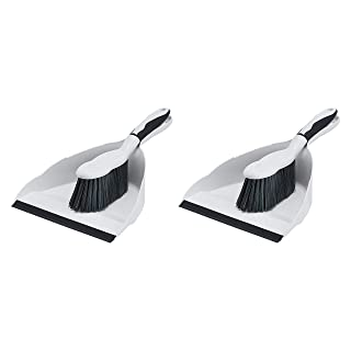 AmazonCommercial - LF2100-2P 9-inch Dustpan and Brush Set - 2-Pack Grey