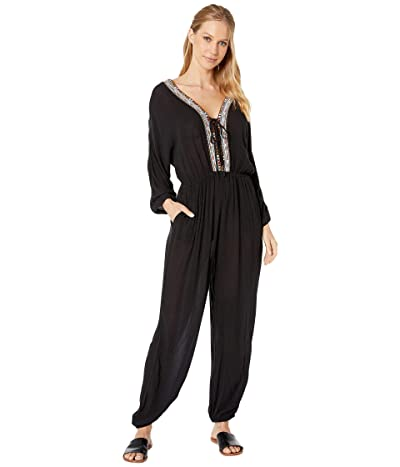 BCBGeneration Lace-Up Balloon Jumpsuit TFW9214995 (Black) Women