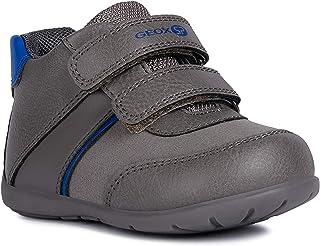 Geox baby boys Elthan Boy 5 Shoe Dual Riptape Straps, Dgrey/Royl, 20 Eu/4.5 M Us Toddler Sneaker, Dgrey/Royl, 4.5 Toddler US