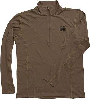 Base Wool 1/4 Zip Pullover 180 Gram Light Chocolate