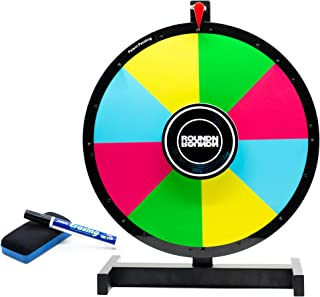 "Prize Wheel | Reversible 2 Sided | 18"" Inch Spinning Prize Wheel with Heavy Duty Tabletop Stand 