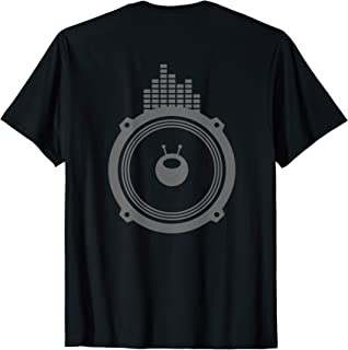 Sound Music Activated Equalizer DJ Birthday Gift BACK Print T-Shirt