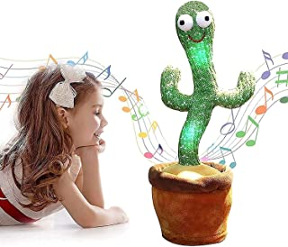 HAOYA Dancing Cactus Toy, Included 120 Music Songs, Sing Dance Recorde and Repeat What You say, Early Childhood Education ...