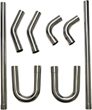 "yjracing 2.5 ""304 فولاد ضد زنگ DIY لوله های اگزوز لوله منیزل مستقیم و خم راست"