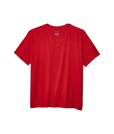 The Normal Brand Active Puremeso V-Neck T-Shirt (Red) Men