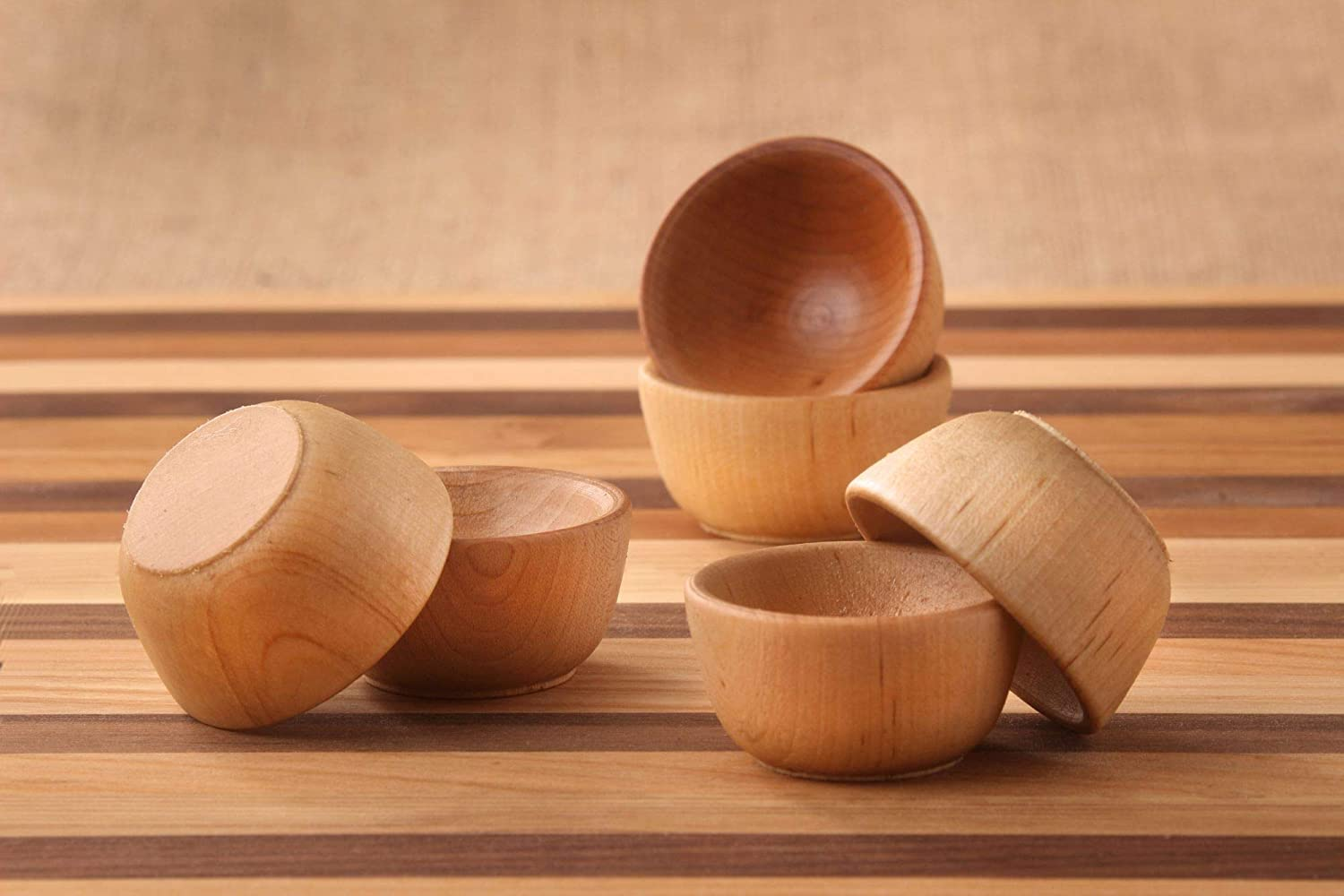 Wooden Mini Pinch Challenge the lowest price Bowls for Set 6 the Cook 1 year warranty PC