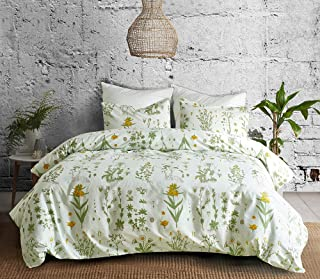 Travan 3-Piece Queen Duvet Cover Set Microfiber Duvet Cover Ultra Soft Breathable Printed Comforter Protector Modern Fashion Style Floral Design Bedding Set