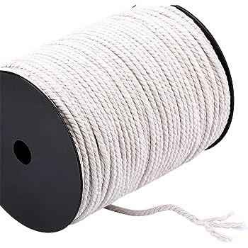 FineInno 4 mm 200M Cordel de Algodón Cotton Twine Hilo Macramé Trenzada de Algodón Natural para DIY Artesanía Hecha a Mano Craft Cuerda Manualidades: Amazon.es: Hogar