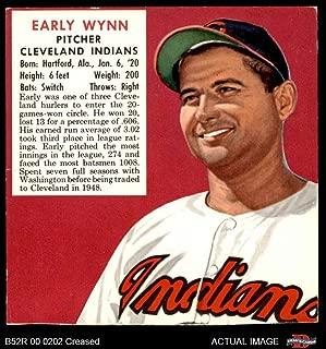 1952 Red Man # 24 AL x Early Wynn Cleveland Indians (Baseball Card) (No Tab) Dean's Cards 3 - VG Indians