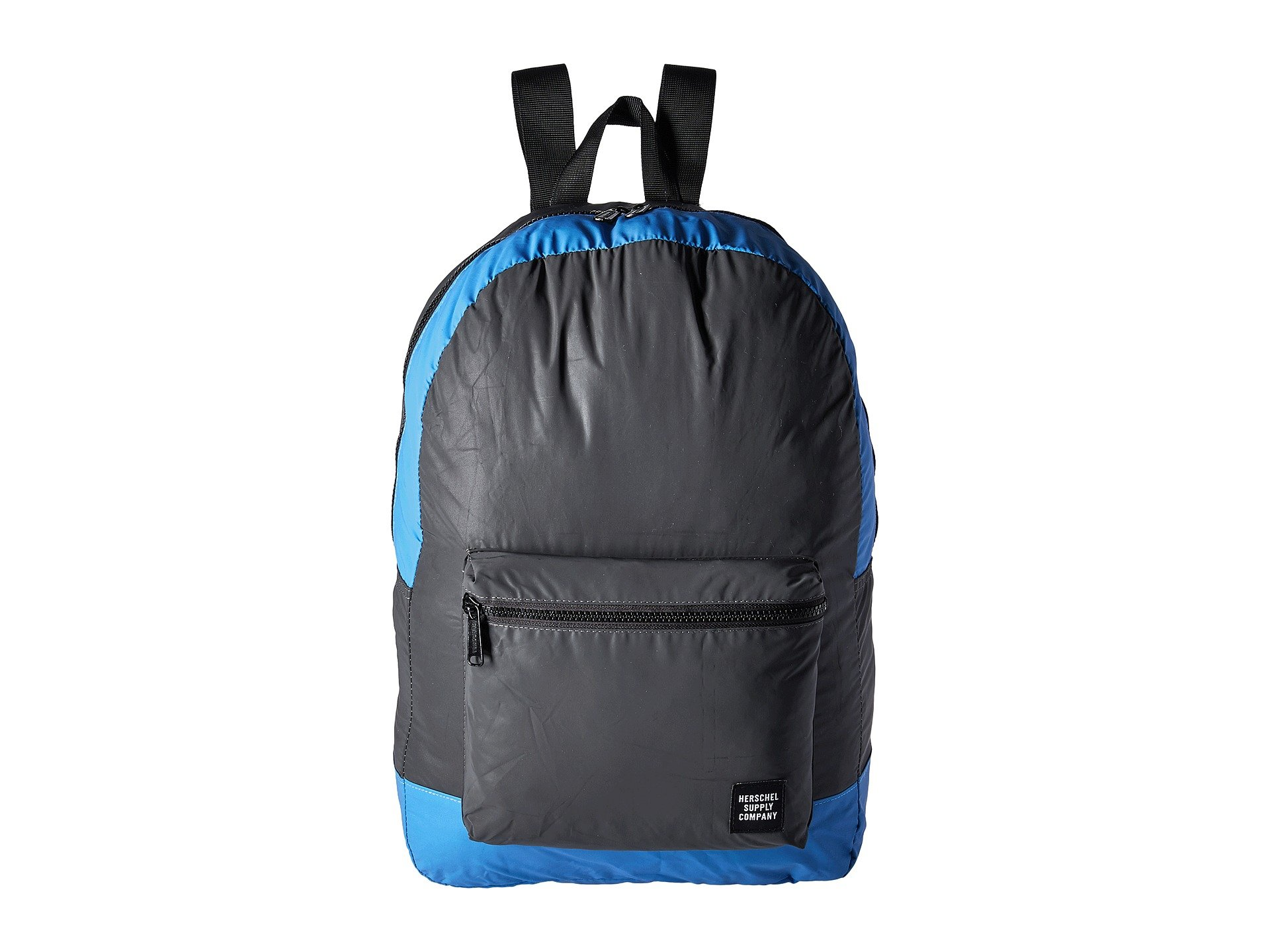 ec0a2801cb9 Herschel Supply Co Packable Daypack In Black Reflective Neon Blue