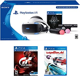 Playstation VR Deluxe Racing Bundle (3 Items): Playstation VR Skyrim Bundle, PSVR Gran Turismo Bundle Game, PSVR Wipeout Omega Collection Game