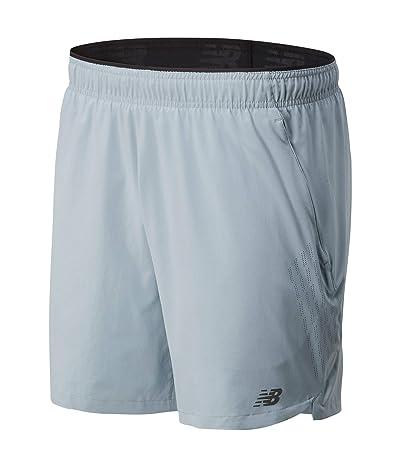New Balance Fortitech 7 2-in-1 Shorts (Light Slate) Men