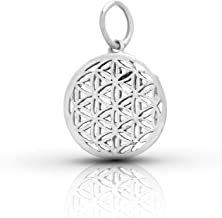 Small Flower of Life Pendant Sterling Silver 925 Size 0.4