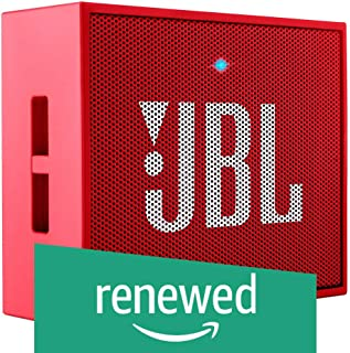 (Renewed) JBL GO Portable Wireless Bluetooth Speaker with Mic (Red)