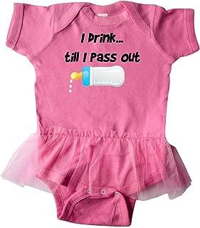 I Drink Till I Pass Out Blue Infant Tutu Bodysuit