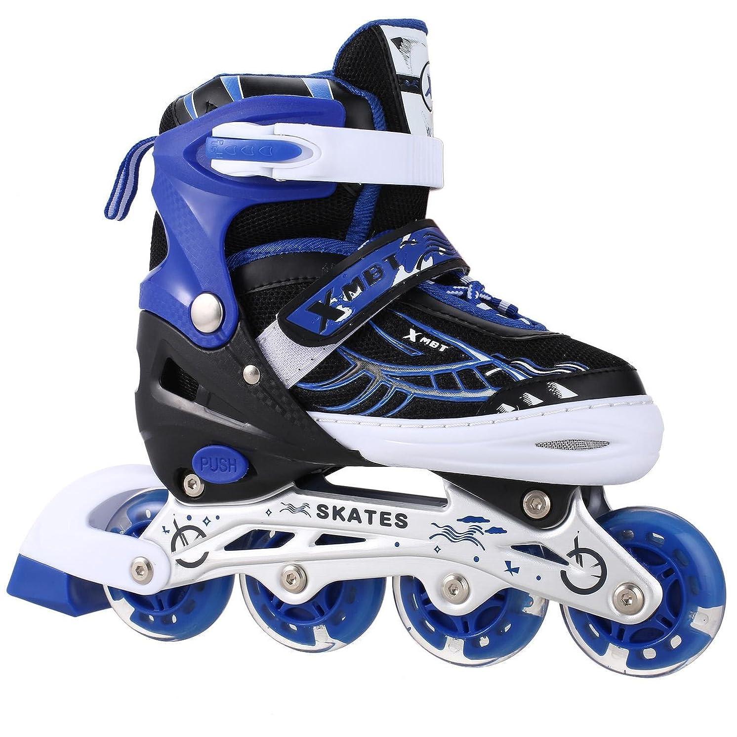 Dorani Unisex Children PU Wheel PP Material Indoor Outdoor Roller Blades Girls Boys Tracer Adjustable Inline Skate (US Stock)