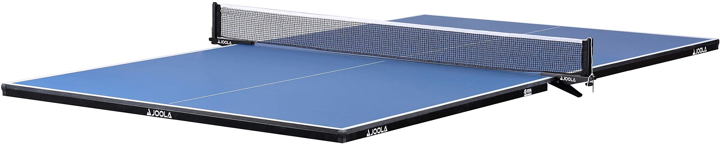 JOOLA Regulation Table Tennis Conversion Top with Foam Backing and Net Set - Full Sized MDF Ping Pong Table Top for Pool Table - Quick and Easy Assembly - Foam Backing to Protect Billiard Table