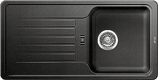 BLANCO Favos 45 S, Küchenspüle aus Silgranit, Anthrazit-schwarz, reversibel / mit 3 1/2 Korbventil - ohne Ablauffernbedienung 516617