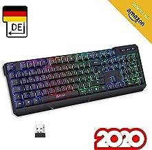 KLIM Chroma Wireless Gaming Tastatur Kabellos QWERTZ DEUTSCH + Langlebig, Ergonomisch,..