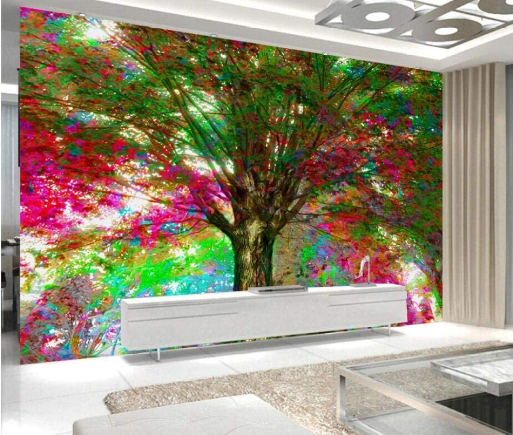New product type RTYUIHN 3D Wallpaper with Colorful Tree Modern Wall Japan's largest assortment Painting Art