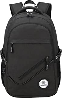"SellerFun Boy 20L Primary Junior High School Student 15"" Laptop Bag Bookbag Daypack Backpack(Black,20L)"