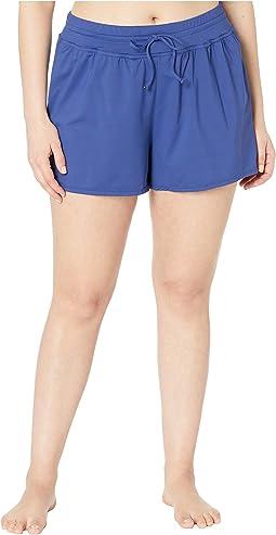 Plus Size Solids Swim Shorts