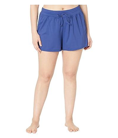 24th & Ocean Plus Size Solids Swim Shorts (Navy) Women