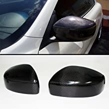 Cuztom Tuning Fits for 2009-2015 Infiniti G25 G37 Q40 Q60 Pair Carbon Fiber Direct Add-on Mirror Cover Caps