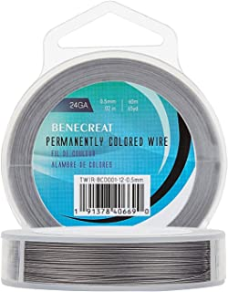 BENECREAT 7 Strands 195FT 0.5MM Stainless Steel Bead String Wire Tarnish Resistant Steel Wire for Necklace Bracelet Making