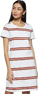 Tommy Hilfiger Women's Ww0Ww22104-White & Red A-Line