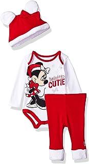 Disney - Juego de 3 Pantalones de Papá Noel para niña con diseño de Minnie Mouse