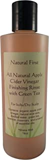 Natural First Organic Apple Cider Vinegar Finishing Rinse w/Green Tea for Itchy/Dry Scalp 8oz