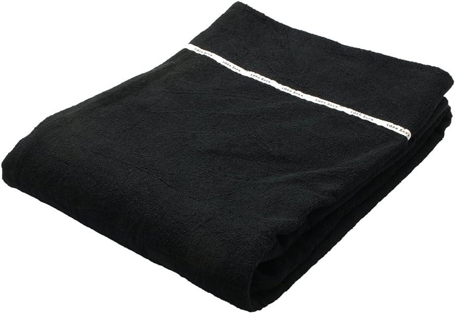告発旅行者中央今治タオル タオルケット イデゾラ ナチュラルタイム パイル ブラック シングル (約140×190cm) IZ0350