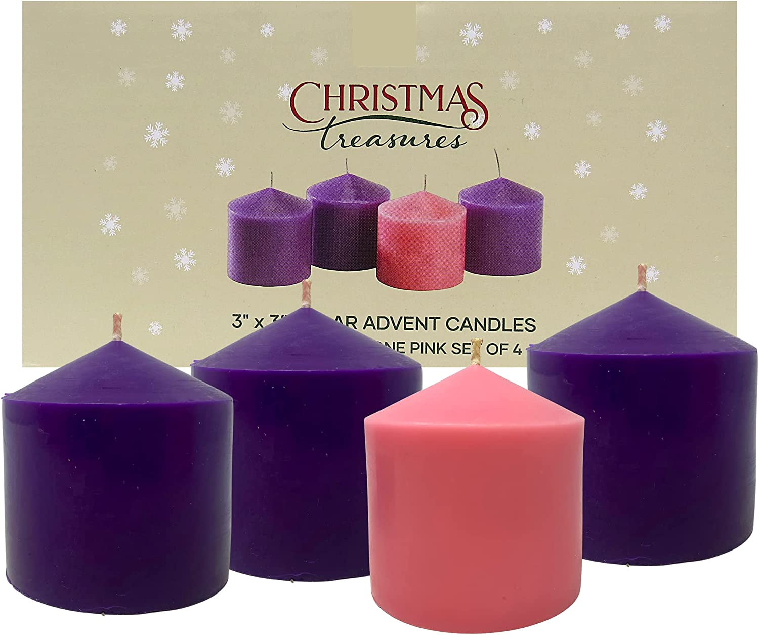 2021 Advent Limited time trial price Purple and Pink Ranking TOP11 Candles Taper Tiny Religio Catholic