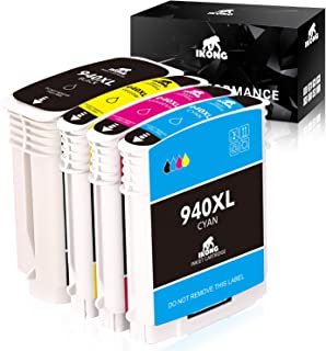 IKONG Remanufactured Ink Cartridges Replacement for HP 940 940XL Combo Pack High Yield Work with HP Officejet Pro 8000 850...