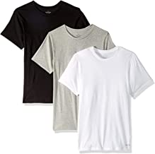 Calvin Klein Men`s Cotton Crew Neck Slim Fit T-Shirts 3 Pack