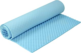 Dr. Franklyn's Convoluted Egg Crate Mattress Pad - Ventilated Mattress Topper - Provides Extra Comfort & Support for Beds Campers and More (Twin, Blue)