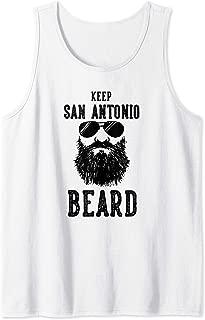 Keep San Antonio Texas BEARD Funny Hipster Retro Tank Top