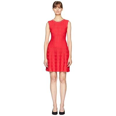 The Kooples Knitted Dress with Studs and a V-Neck at the Back (Red) Women