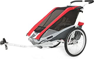 Thule Chariot Kids 'Cougar 2Double Child Carrier, Rosso/Argento/Grigio