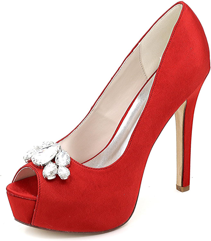 Qingchunhuangtang@ Luxurious Women's shoes Evening shoes Rhinestone Wedding shoes Fish Mouth high Heels Fine Sandals Party Fashion shoes